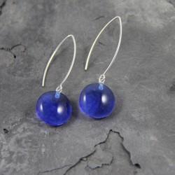 Boucles d'oreilles bleu indigo