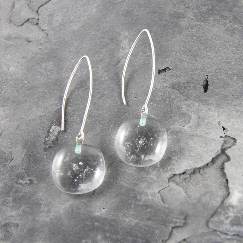 Boucles d'oreilles en verre transparent